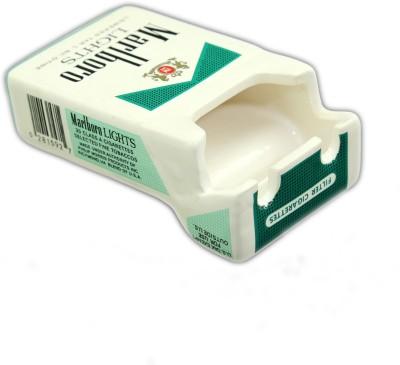 Importwala Cigarette Pack Shaped Ashtray-Green Green Ceramic Ashtray