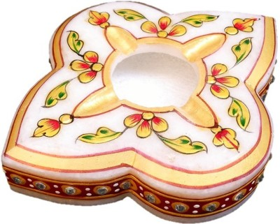 JaipurCrafts Stylish Rajasthani Multicolor Marble Ashtray