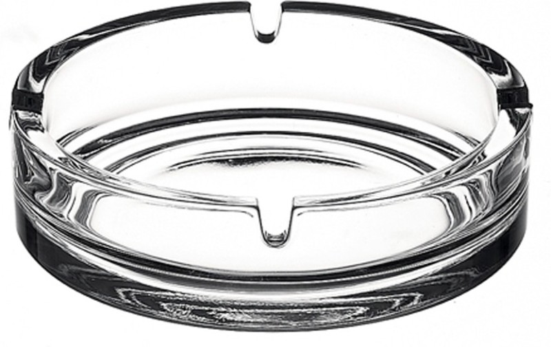 Pasabahce Clear Glass Ashtray(Pack of 1)