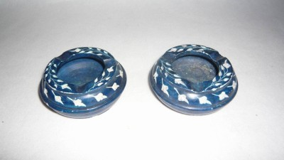 giftpointinc Green Stoneware Ashtray