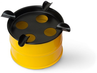 Happily Unmarried Yellow Iron Ashtray