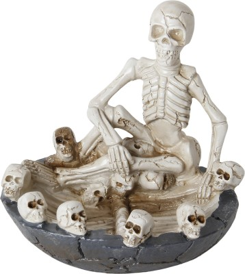 Taino 1 Skeleton-Halloween Style Skull White Polyresin Ashtray