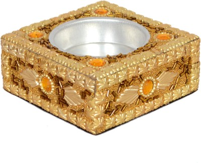 Falak Handicrafts Gold Wooden Ashtray