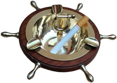 Royal Arts Exports Gold Brass Ashtray