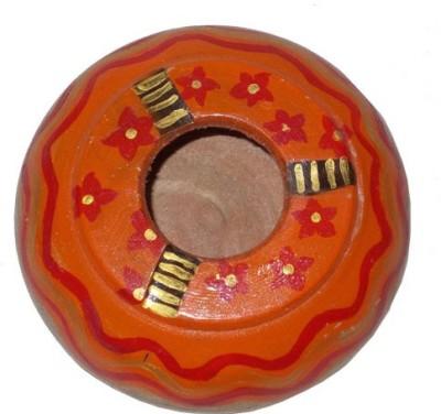 Colors Gaala Orange, Red, Gold Wooden Ashtray