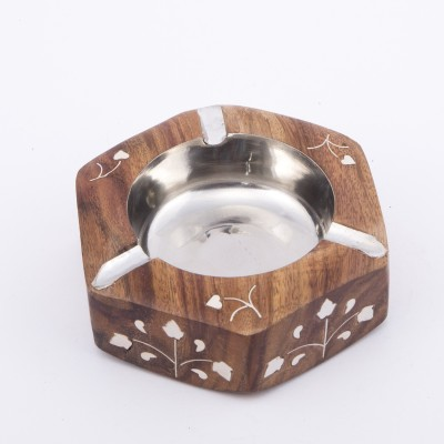 Urban Monk Creations Woodyyyashh Brown Wooden Ashtray