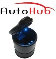 Auto Hub Black Plastic Ashtray(Pack of 1)
