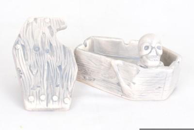Scrafts Coffin Shape 01 White Ceramic Ashtray