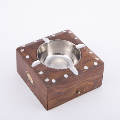 Urban Monk Creations Wooddyashh Brown Wooden Ashtray