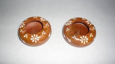 giftpointinc Yellow Stoneware Ashtray