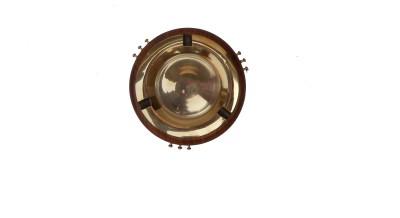 HANDICRAFT SHEESHAM MADE FANCY DESIGN Brown, Yellow Brass, Wooden Ashtray