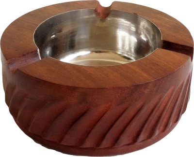 The Woods Hut Brown Wooden Ashtray