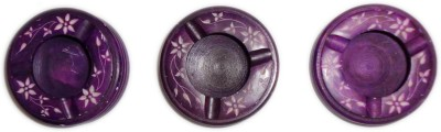 giftpointinc Purple Ceramic Ashtray