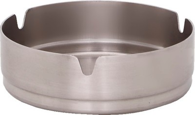 Dynore Small Silver Stainless Steel Ashtray