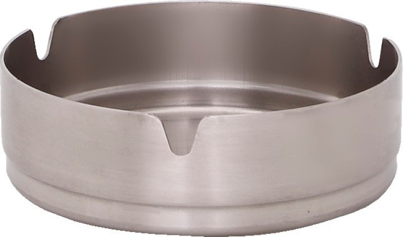Dynore Small Steel Stainless Steel Ashtray(Pack of 1) Small