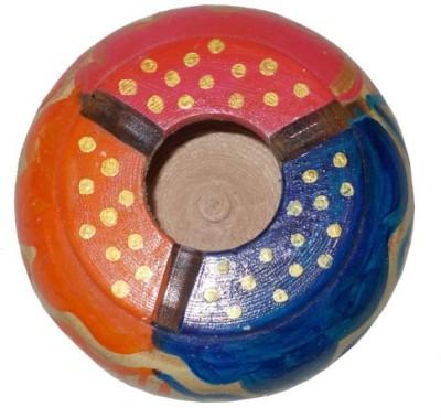 Colors Gaala Red, Orange, Blue, Gold Wooden Ashtray
