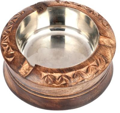 Craft Trade Designer Hand Craft Brown Wooden Ashtray