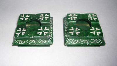 giftpointinc Brown Stoneware Ashtray