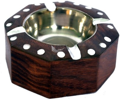 Woodino Brown Wooden Ashtray(Pack of 1)