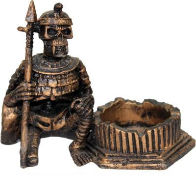 Tootpado Egypt Mummy Skull Brown Porcelain Ashtray