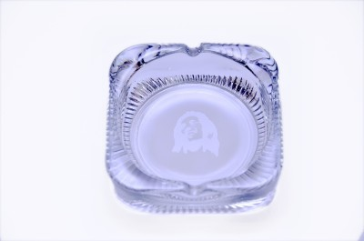 TABOO BAZAAR Clear Glass Ashtray