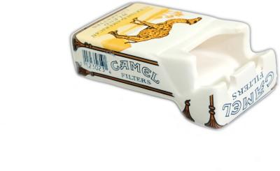 Importwala Cigarette Pack Shaped Ashtray-Turkish Camel Gold Ceramic Ashtray