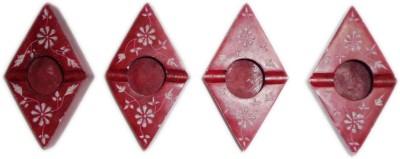 giftpointinc Maroon Ceramic Ashtray