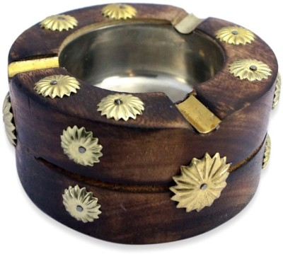 Craftatoz Brown Wooden Ashtray