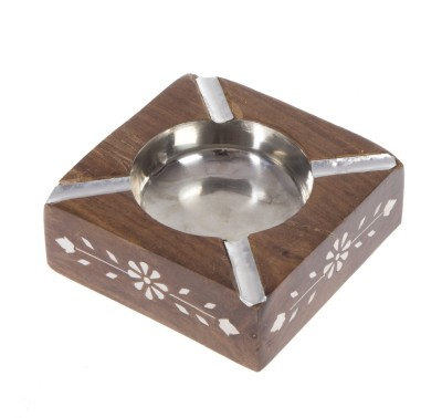 Urban Monk Creations classicashy Brown, Silver Wooden, Stainless Steel Ashtray