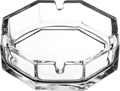 Pasabahce Clear Glass Ashtray(Pack of 2)