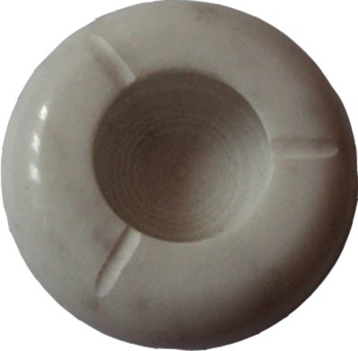 arty crafty White Marble Ashtray(Pack of 1)