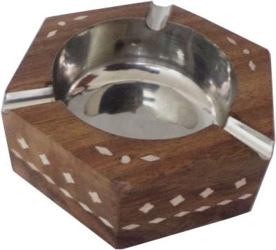 Atulaya Brown Wooden Ashtray(Pack of 1)
