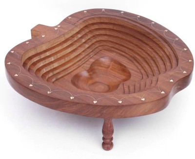 Home Sparkle Brown Wooden Ashtray