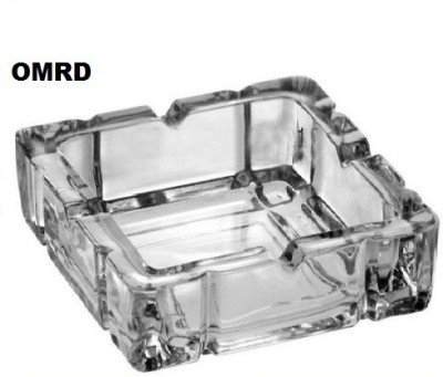 OMRD Ashtray White Glass Ashtray