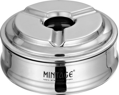 MINTAGE Silver Stainless Steel Ashtray