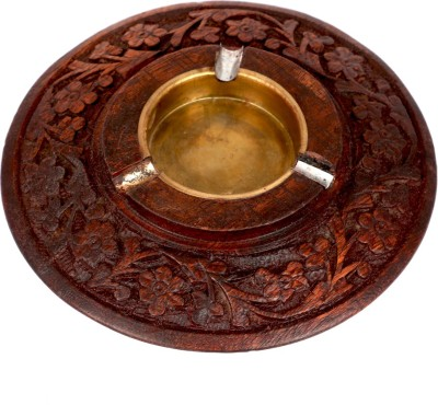 Craft Trade Brown Wooden, Cast Iron Ashtray
