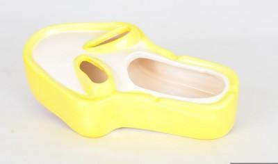 Scrafts Skull Shape 05 Yellow, White Ceramic Ashtray