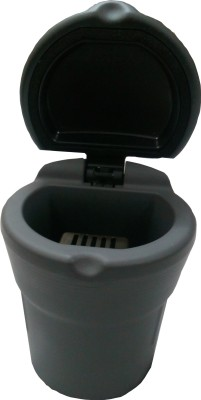 Viaan Dustbin Shaped Car Black PTFE (Non-stick) Ashtray