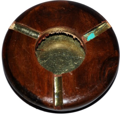 Indoart Brown Wooden Ashtray