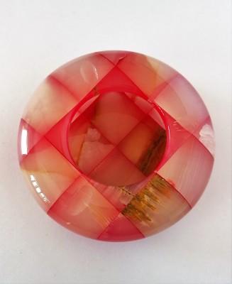Govindam Onyx Stone Pink Stoneware Ashtray