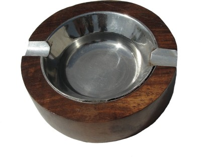 MKB Brown Wooden Ashtray
