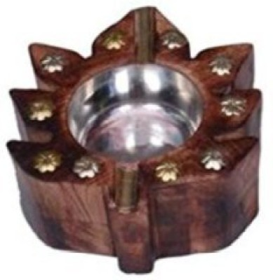 Desi Karigar Brown Wooden Ashtray