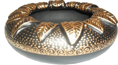 Sasta Black, Gold Terracotta Ashtray