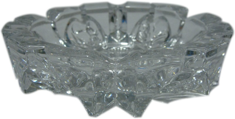 Shree Shop Clear Glass Ashtray(Pack of 1)
