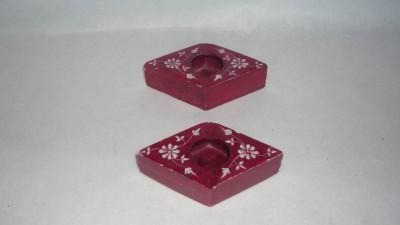 giftpointinc Red Stoneware Ashtray