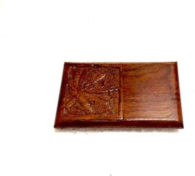 Alishba Cigarette Case Brown Wooden Ashtray(Pack of 1)