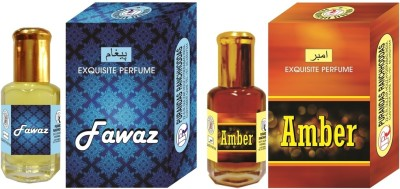 PURANDAS RANCHHODDAS PRS Amber & Fawaz Attar 6ml Each Herbal Attar