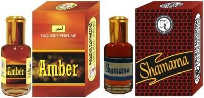 PURANDAS RANCHHODDAS PRS Amber & Shamama 6ml Each Herbal Attar