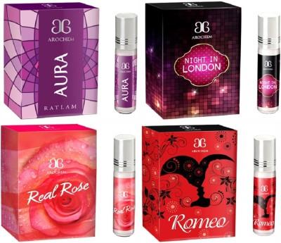 Arochem Romeo Night in london Real rose Aura Combo Floral Attar