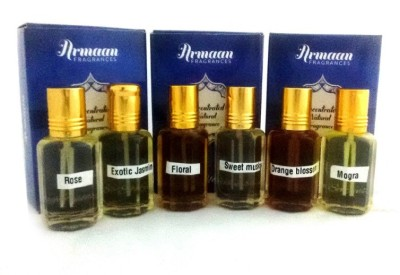 Armaan Pack of 6 Pcs Set Floral Attar(Floral)